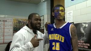 Mark Ingram and Southwestern basketball player
